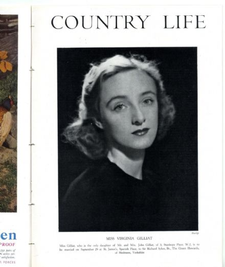 1942 COUNTRY LIFE Magazine VIRGINIA GILLIAT SYKES Hascombe Court Godalming (3832